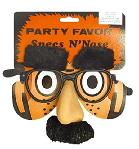 Groucho Nose & Specs for 30s 40s 50s Fancy Dress Accessory