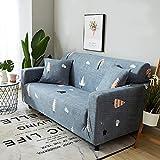ele ELEOPTION Sofa Überwürfe, Sofabezug Stretch, Elastische Sofahusse Sofa Abdeckung mit einen Kissenbezug in Verschiedenem Abziehbild (Zeder, 2 Sitzer für Sofalänge 140-170cm)