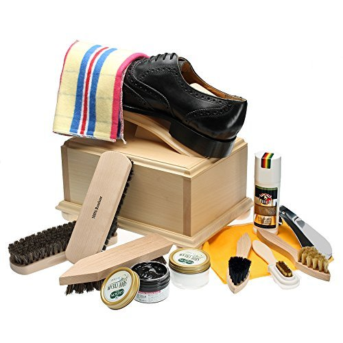Shoe Care Box II with footrest a...