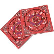 F Fityle 20 Piezas Servilleta Desechable Toalla de Papel con Dibujo de Flores Ligero y Suave