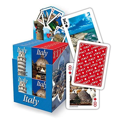 mit Italien Highlights, Foto Motive Italienischer Wahrzeichen, Ansichtskarten, italienische Pokerkarten, Spielkarten in verschiedenen Varianten + Set (Blau, Italien) ()