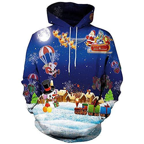 JYJM 2018 Weihnachten Men Women Winter Christmas Long Sleeve Hooded Coat Pullover Outwear Tops Blouse Unisex Maxi Offene Cardigan...