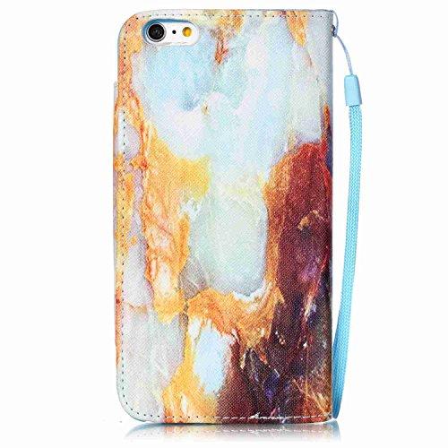 Owbb Filp PU Housse Coque Étui avec magnetic buckle protection pour iPhone 6 Plus / 6S Plus (5.5 pouces) Smartphone -fleur blanc Color 01