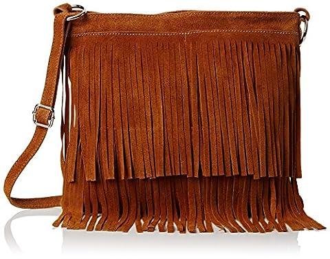 Girly Handbags Womens Daniela Cross-Body Bag Tan