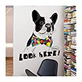 Wandtattoos Wandsticker Cool Dog Creative Home Decor Pvc S Tier Look Here Zitate Fertig Größe 81X101Cm