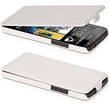 DONZO Flip Carbon-Style Funda para HTC Desire 300 blanco