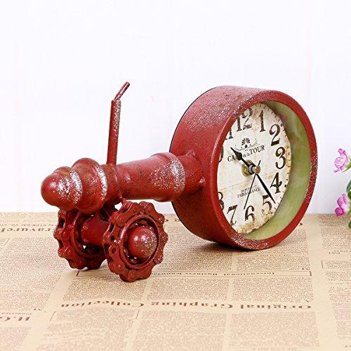 WEILON Stilvolle, moderne kreative Wecker Bügeleisen Kunst die Batterie der Uhr home Handwerk simplex Stummschalten des pendels Teil Neuesten styles (Standuhr Teile Pendel)