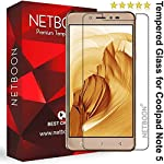 NETBOON Premium Tempered glass Compatible with Coolpad Note 5 only. This made of shatter proof Glass and comes with a smudge proof coating and 2.5D round edge because of this It gives a crystal clear view of your screen without the hassle of bubbles ...