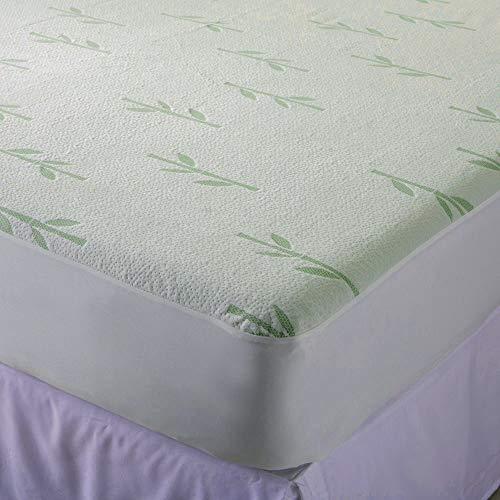 FIT4ALL Matratzenschoner, Bambus, Weiß (Matratze Bug + Bett Tasche)