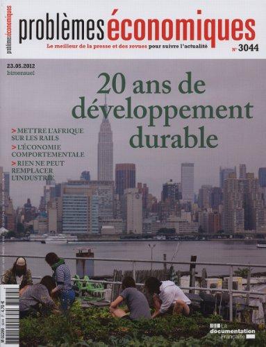 20 ans de développement durable (Problèmes économiques n° 3044)