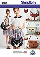 Simplicity Accessories Sewing Pattern 1181 Novelty Animal Face Handbags