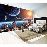 Hwhz Moderne Fototapete Stern Erde Weltall Universum Mond Wand Papier 3D Große Wand Wohnzimmer Sofa Hintergrund Wand Wandbilder Tapete-350X250Cm