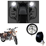 #4: Vheelocityin 5 Inch 6 LED Motorcycle Light Fog Lamp Auxiliary Lamp Light - set of 2 For Royal Enfield Classic