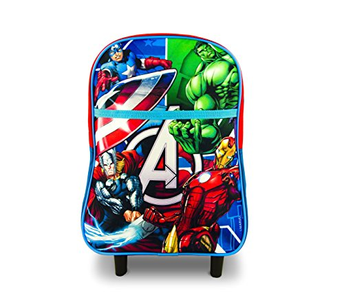 Zaino mini trolley asilo e tempo libero av16106 the avengers 34x22x13 cm. media wave store ®