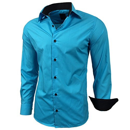 Subliminal Mode -  T-shirt - Maniche lunghe  - Uomo Turquoise