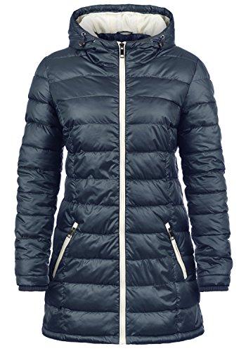 DESIRES Dori Damen Steppmantel Daunen-Jacke mit Kapuze aus hochwertigem Material, Größe:M, Farbe:Insignia Blue (1991)