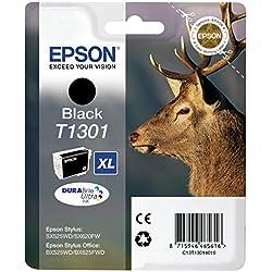 Epson Ink Cart T130Cartouche d'encre noir Amazon Dash Replenishment est prêt
