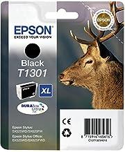 Epson T130 Serie Cervo, Cartuccia Originale Getto d'Inchiostro DURABrite Ultra, Formato XL, Nero, con Amazon Dash Replenishment Ready