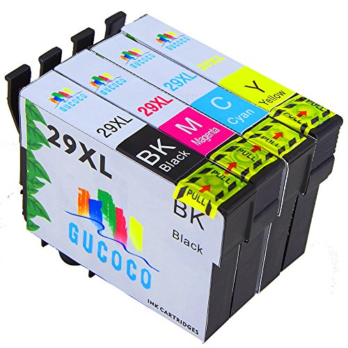 GUCOCO Hohe Kapazität 4 Multipack Packung Epson 29XL Kompatible Tintenpatrone für Epson Expression Home XP-235 XP-245 XP-247 XP-432 XP-435 XP-442 Drucker