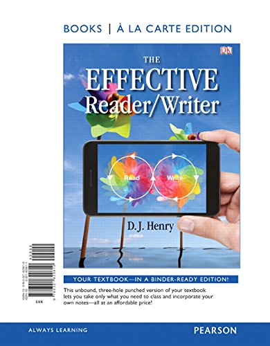The Effective Reader/Writer, Books a la Carte Edition