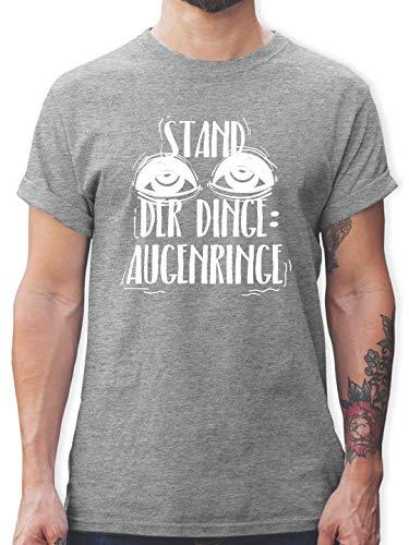 Festival - Stand der Dinge: Augenringe - weiß - M - Grau meliert - L190 - Tshirt Herren und Männer T-Shirts