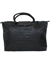 Kuber Industries™ Waterproof Foldable Shopping Handbag, Travel Bag (Black)