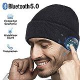 HANPURE Bluetooth Mütze, Herren Geschenke, Bluetooth Kopfhörer Mütze, Damen&Herren Mützen mit Bluetooth 5.0 Kopfhörern, Musik Mütze für Skifahren, Laufen, Skaten, Geburtstagsgeschenke