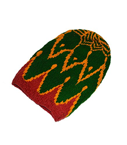 New Original große Hand Made Wolle Rasta Dread Knit Hat Bob ()