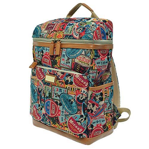 PLIC n PLOC - A173.Disney Mickey Mouse-Rucksack-Spielraum Schule Laptop-Windel-Tasche Bookbag - Frau - Braun - L 11.6xH 14.6xW 5,3 Zoll