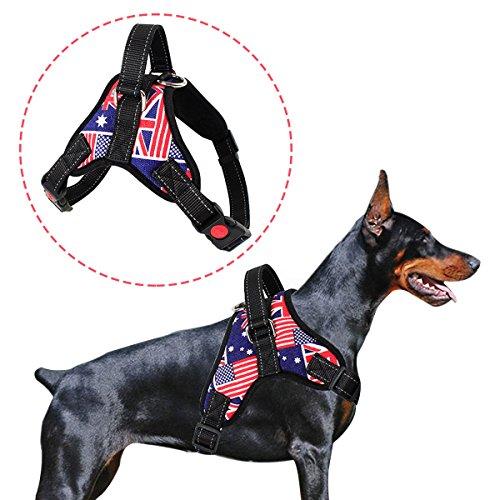 HongYH cane imbracatura, regolabili outdoor gilet per cani, premere & no soffocare design pet imbracatura facile controllo per piccole medie grandi cani