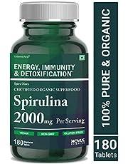 Carbamide Forte Spirulina Tablets 2000mg Per Serving Certified 100% Organic – 180 Veg Tablets