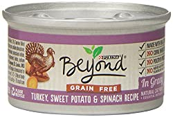Purina Beyond Grain Free Turkey, Sweet Potato and Spinach Recipe Natural Cat Food, 12/3oz cans