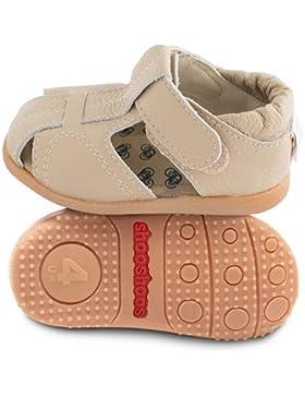 ShooShoos - Zapatitos de piel suela dura, sandalias beige