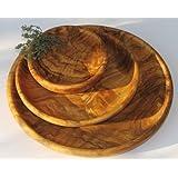 Scodella tonda LAMAMMA - in legno d'ulivo, diametro ca. 15 cm. Con una venatura molto bella, impregnata con olio di lino pressato a freddo. Ogni scodella è un pezzo unico