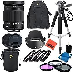 Sigma 18-300mm F3.5-6.3DC Macro OS HSM (C) pour appareils Photo Canon EF-Kit Professionnel