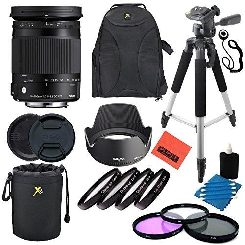Sigma 18-300mm f3.5-6.3DC Makro OS HSM (C) für Canon EF Kameras-Professionelle Kit (T3i Canon Kit)