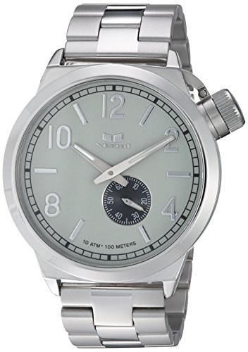Vestal 'Canteen Metal' Quartz Stainless Steel Casual Watch, Color:Silver-Toned (Model: CNT453M03.3SVX)