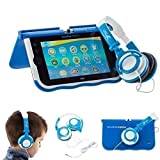 Ultimateaddons® Petit Casque Audio Pliant pour Enfant Compatible avec le vTech Innotab Max - Bleu