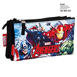 Avengers Assemble Estuche portatodo triple escolar