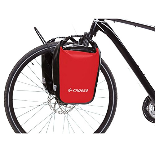 CROSSO DRY SMALL CO1010C 30 L Fahrradtasche Bike Gepäckträgertasche Gepäcktasche Rot