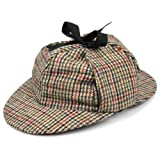 Sherlock Holmes Tweed Hut mit zwei Spitzen und Ohren Klappen - Nicht Verfügbar, 59cm