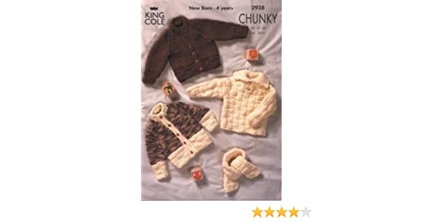 544df8e93bc8 King Cole Knitting Pattern 2938   Baby Toddler Chunky Cardigans ...