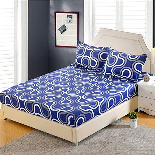 Hllhpc Drap de lit en Polyester impriméCoins lavés à la mainGummiband