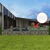 XuzhEU Gabione, U-Form Stahl PVC Beschichtet verzinkt Drahtgitter Zaun für Backyard Border Zaunelemente