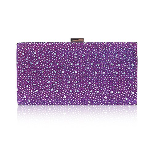 Damara Sac De Soirée Etui Strass Brillant Pour Femmes violet