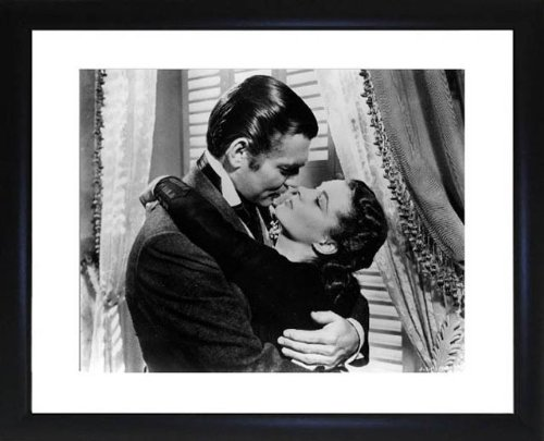 Gable Clark und Leigh Vivien gerahmtes Foto (Gone With The Wind Bilder)