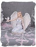 Skulptur, Figur, Büste, Statue, Statuette eines Engels, Engelfigur, Engelfrau, Engeldame, Schutzengel aus Keramikmasse mit Handbemalung - Palazzo Exklusive
