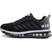 fc0ba991cbd4 Fexkean Homme Femme Baskets Chaussures de Course Sneakers Outdoor Running  Sports Fitness Gym Shoes