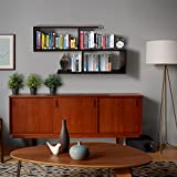 #8: Klaxon Home Decor Wall Shelves / Book Shelf And Storage | Wall Shelves Wooden S Shape - (Brown,Matte Finish)(Do It Yourself – DIY)