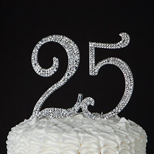 der Nummer 25 in silber Farbe für den 25 zigsten Geburtstag oder als Dekoration für eines Jahrestag wie der silber Hochzeit ()